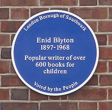 Source: http://en.wikipedia.org/wiki/File:Blyton_blue_plaque.jpg