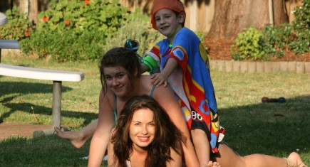 Nathalie and her kids