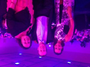 Layne Beachley (left) and Marco Artini with Johanna Baker-Dowdell (right) at the Tasmanian Telstra Business Women's Awards