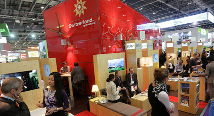 Award winning stand for Switzerland Tourism. Image credit: http://www.traveldailynews.com/news/article/63147/wtm-honours-exhibitors-in-best