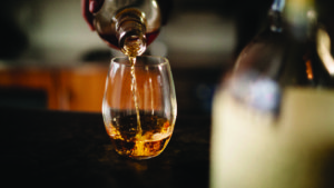 Pouring whisky